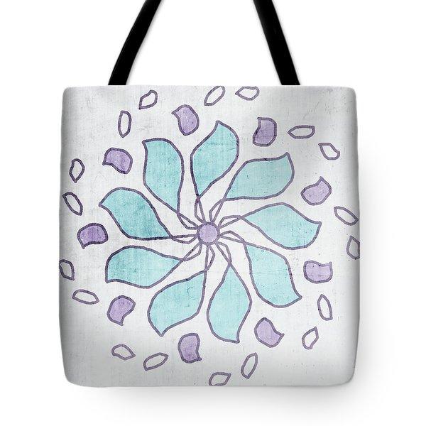 Boho Floral Mandala 4- Art By Linda Woods Tote Bag