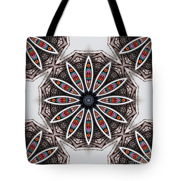 Tote Bag featuring the digital art Boho Flower by Mo T