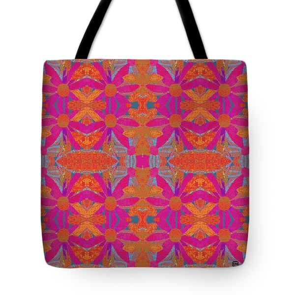 Tote Bag featuring the painting Boho Hippie Garden - Pink by Lisa Weedn