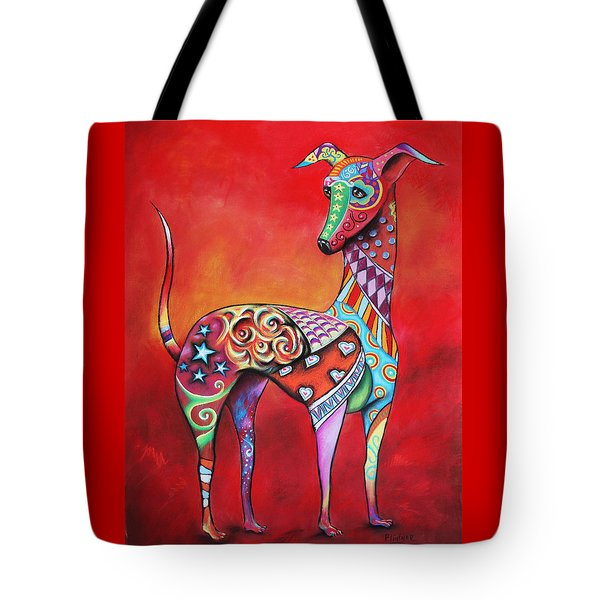 Italian Greyhound  Tote Bag by Patricia Lintner