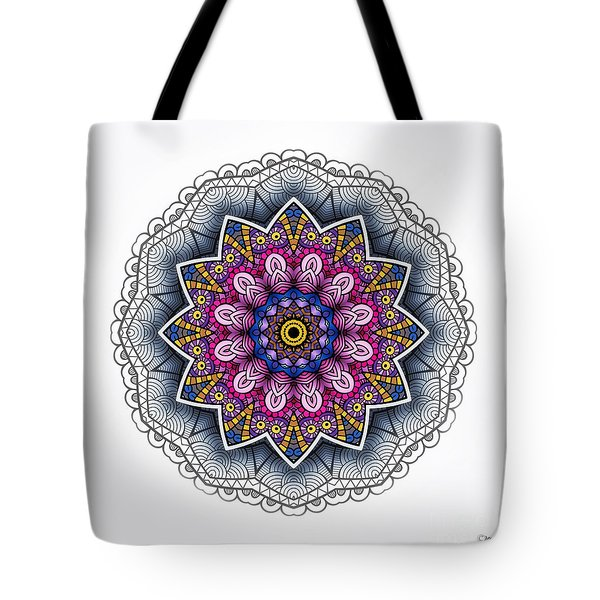Tote Bag featuring the digital art Boho Star by Mo T