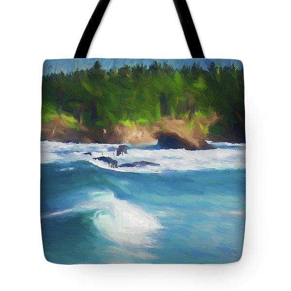Boiler Bay Blues Tote Bag