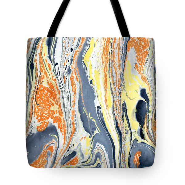 Tote Bag featuring the painting Boiling Lava by Menega Sabidussi