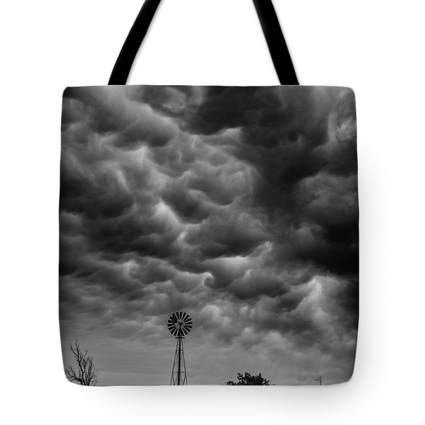 Tote Bag featuring the photograph Boiling Sky by Karen Slagle