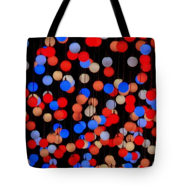 Tote Bag featuring the photograph Bokeh Lights by Ranjini Kandasamy
