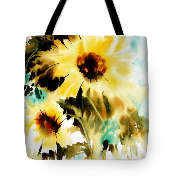 Tote Bag featuring the painting Bold And Beautiful by Rae Andrews