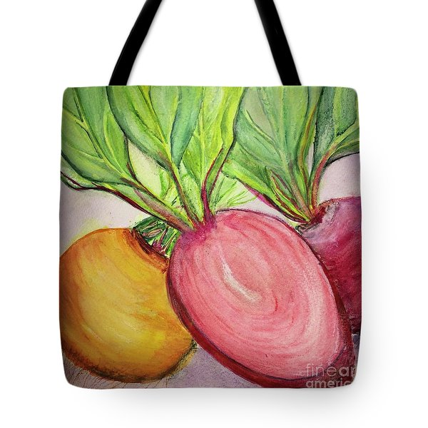 Tote Bag featuring the painting Bold Beets by Kim Nelson
