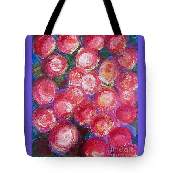 Tote Bag featuring the painting Bold Bunch by Corinne Carroll