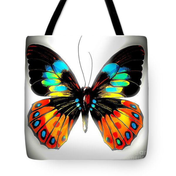 Bold Butterfly Tote Bag by Gayle Price Thomas