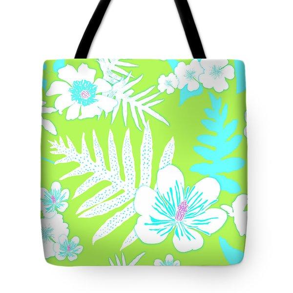 Bold Fern Floral - Lime Tote Bag