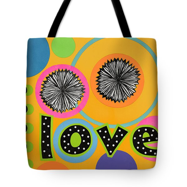 Tote Bag featuring the mixed media Bold Love by Gloria Rothrock