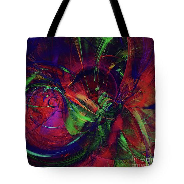 Tote Bag featuring the digital art Bold Red by Deborah Benoit