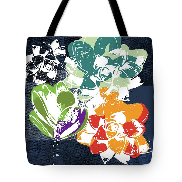 Bold Succulents 1- Art By Linda Woods Tote Bag
