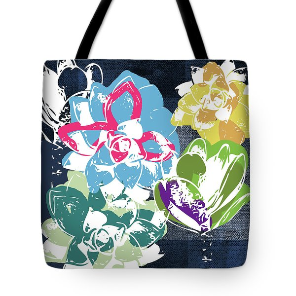 Bold Succulents 2- Art By Linda Woods Tote Bag
