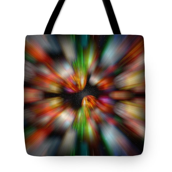 Bolders In Space Tote Bag by Cherie Duran