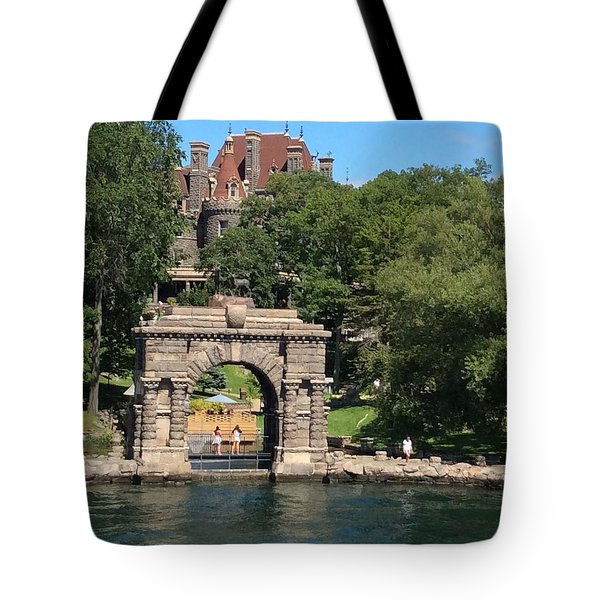 Tote Bag featuring the photograph Boldt Castle by Pat Purdy