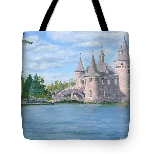 Tote Bag featuring the painting Boldt's Power House by Lynne Reichhart