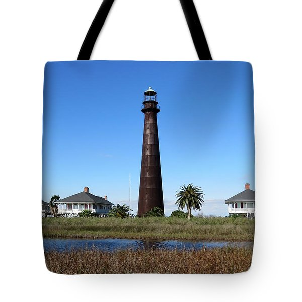 Bolivar Point Lighthouse Tote Bag