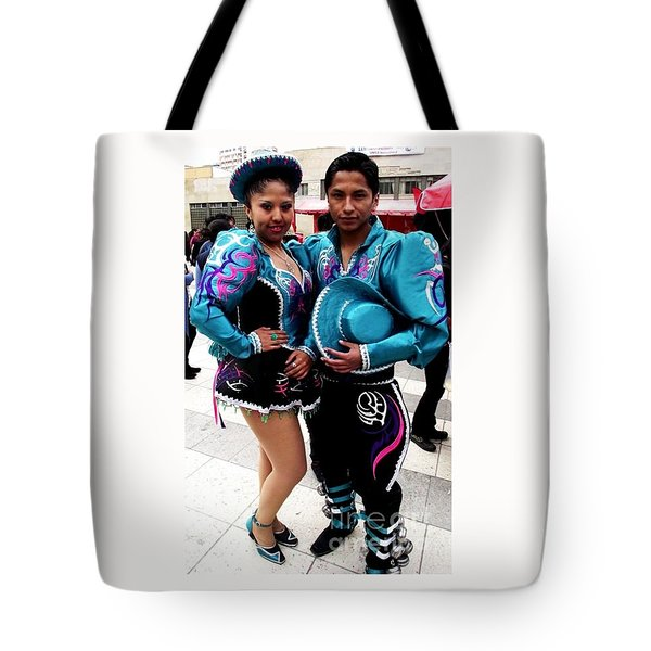 Bolivian Couple Dancers Tote Bag