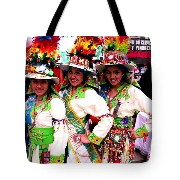 Bolivian University Student Dancers 1 Tote Bag