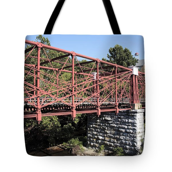 Bollman Truss Bridge At Savage In Maryland Tote Bag