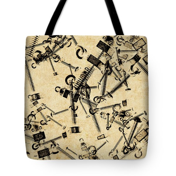 Bolt Action Bots Tote Bag
