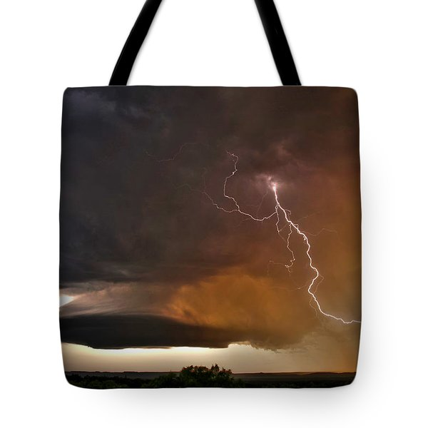 Bolt From The Heavens. Tote Bag by James Menzies