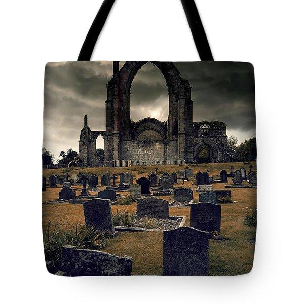 Bolton Abbey In The Stormy Weather Tote Bag by Jaroslaw Blaminsky