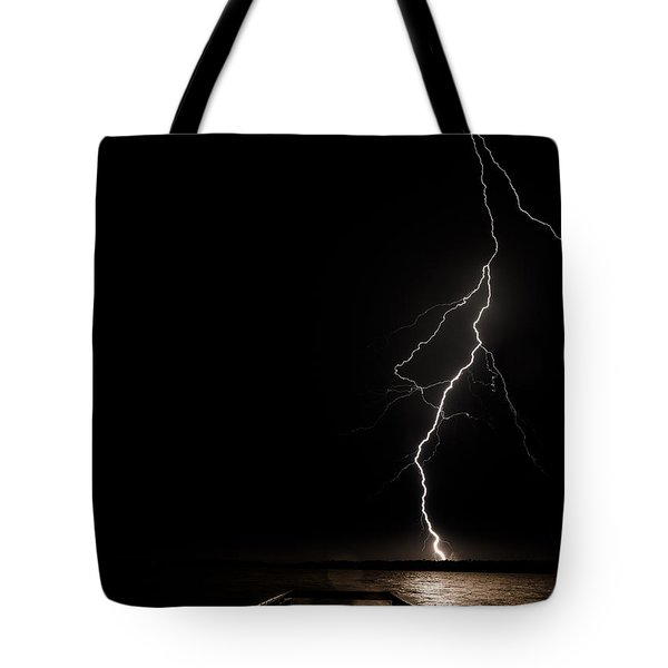 Bolts On Lake Houston Tote Bag