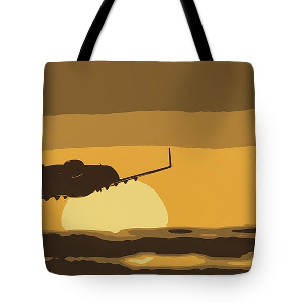 Bombardier Crj-200er Flying Sunset Tote Bag