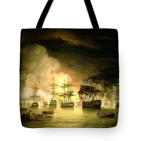 Bombardment Of Algiers Tote Bag by Thomas Luny