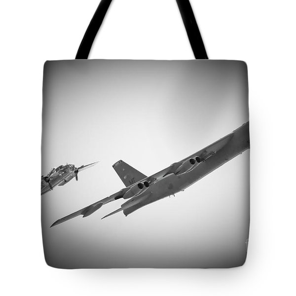Bomber Pair Tote Bag by Bob Mintie
