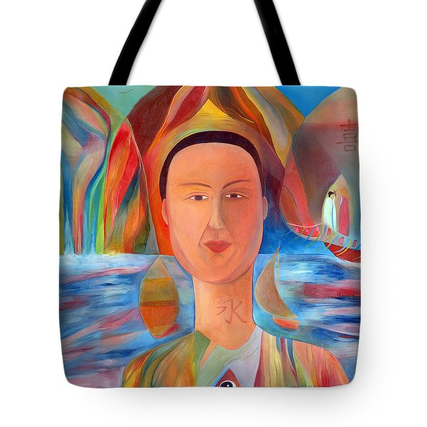 Tote Bag featuring the painting Bon-eo by Linda Cull