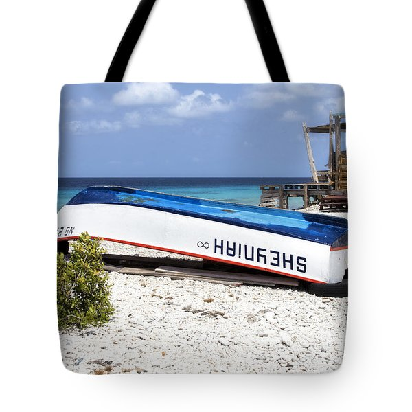 Bonaire. The Old Boat Tote Bag