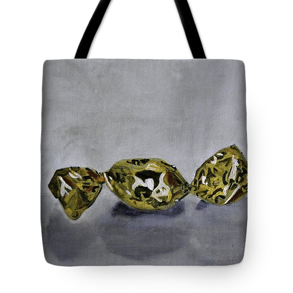 Bonbon Wrapped In Gold Tote Bag