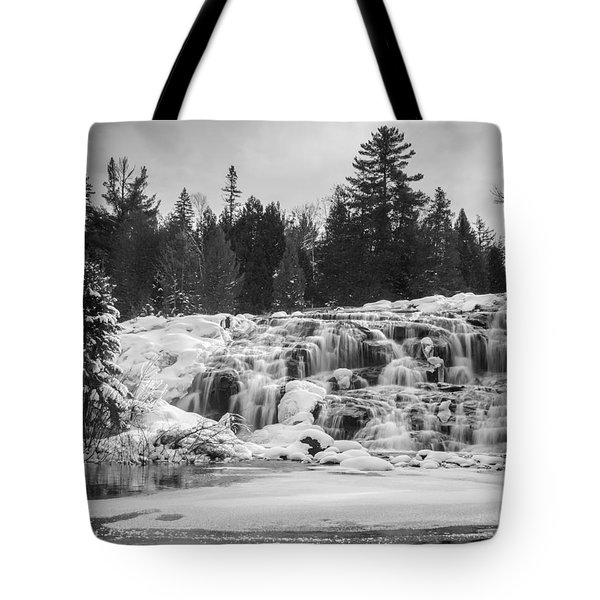 Bond Falls In Black And White Tote Bag
