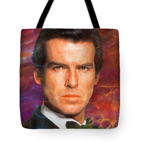 Bond - James Bond 5 Tote Bag by John Robert Beck