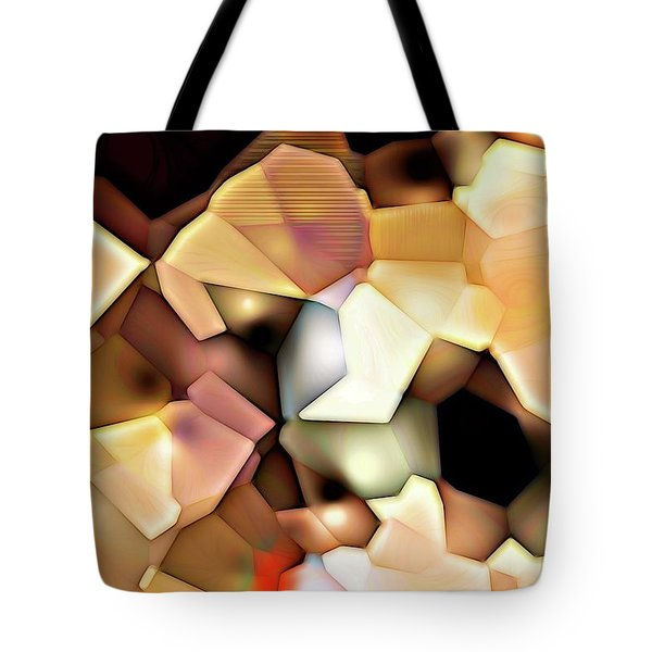 Bonded Shapes Tote Bag by Ron Bissett