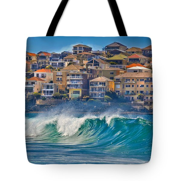 Bondi Waves Tote Bag by Az Jackson