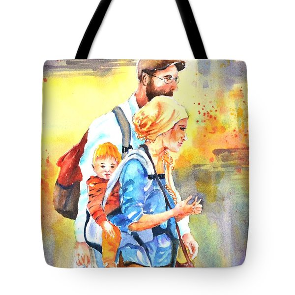 Bonding #5 Tote Bag by Betty M M Wong