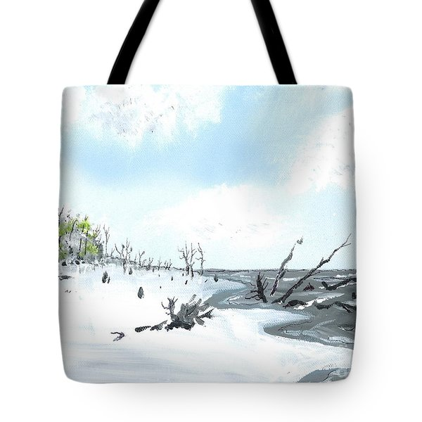 Bone Yard At Capers Island Tote Bag