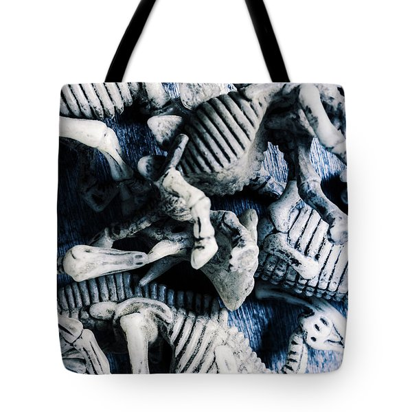 Bones From A Mass Extinction Event Tote Bag