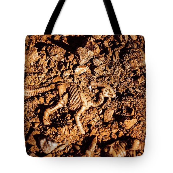 Bones From Ancient Times Tote Bag