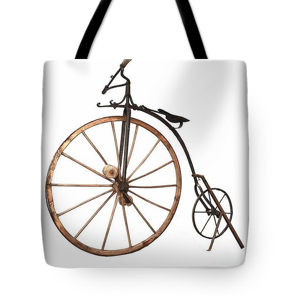 Tote Bag featuring the painting Boneshaker Bike by Pg Reproductions