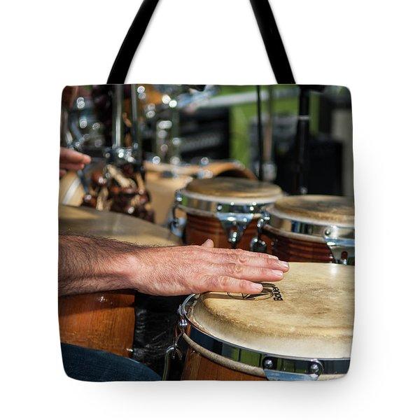 Bongo Hand Drums Tote Bag