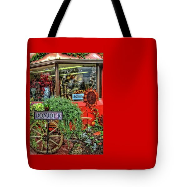 Tote Bag featuring the photograph Bonjour Hello Good Day by Thom Zehrfeld