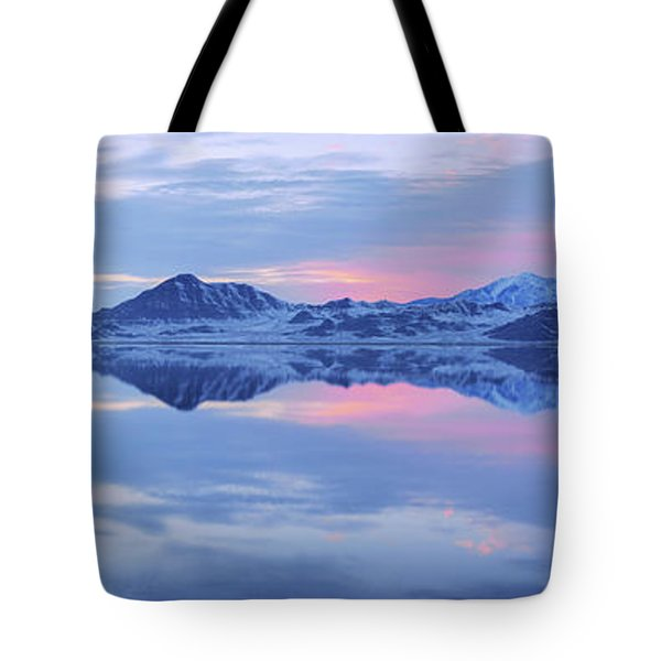 Tote Bag featuring the photograph Bonneville Lake by Chad Dutson