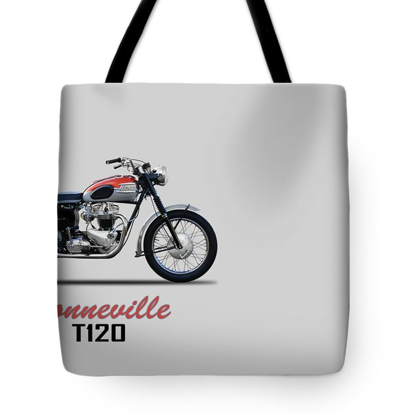 Bonneville T120 1962 Tote Bag by Mark Rogan