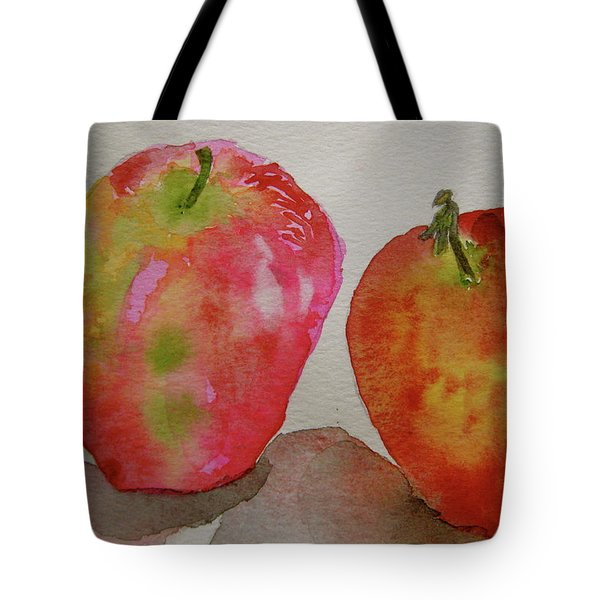Tote Bag featuring the painting Bonnie And Clyde by Beverley Harper Tinsley
