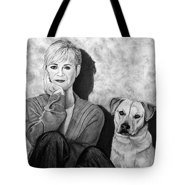Bonnie Hunt And Charlie Tote Bag by Peter Piatt